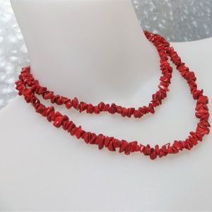 Christmas Red Genuine Gemstone Necklace